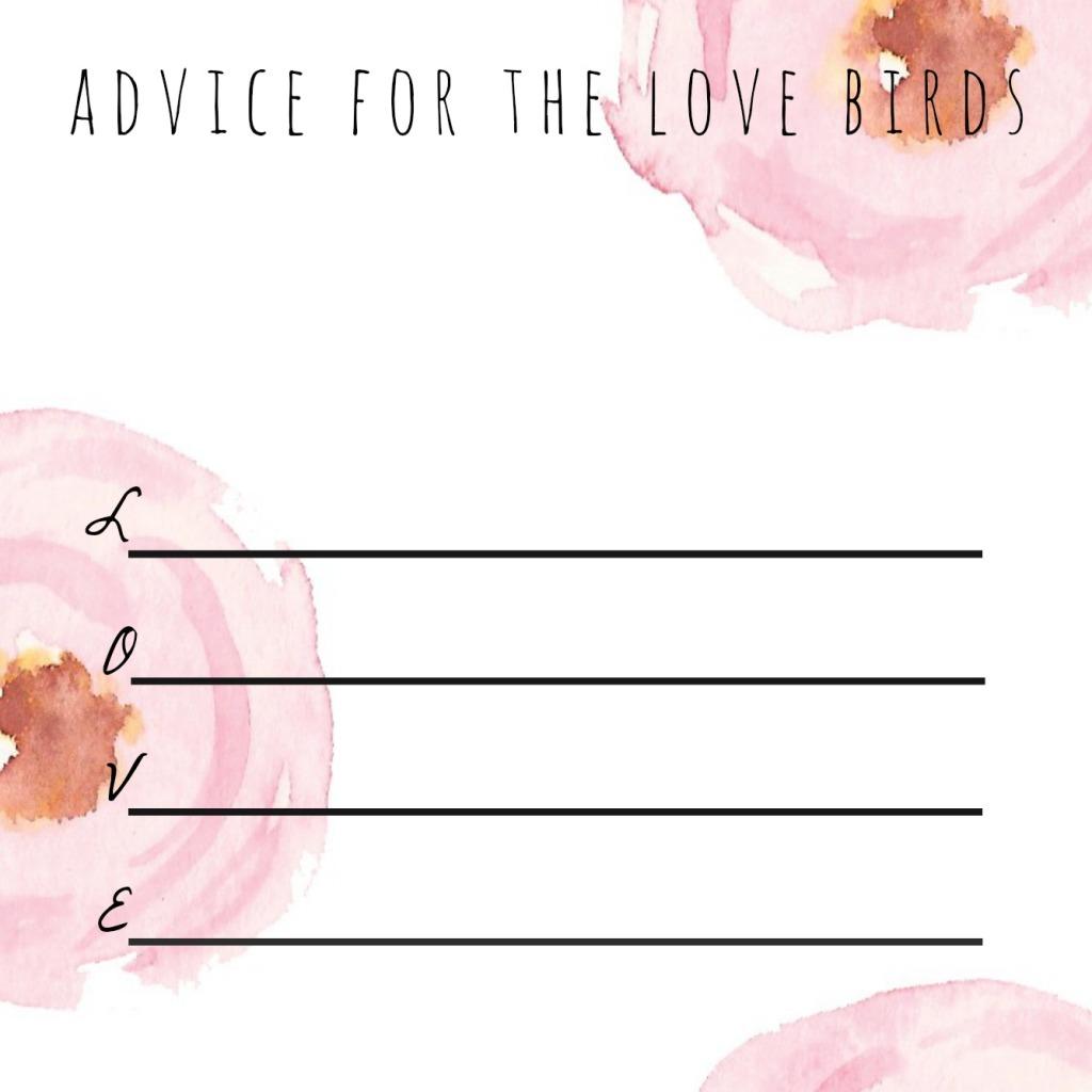 Advice for the Love Birds -- laceandyarn.com