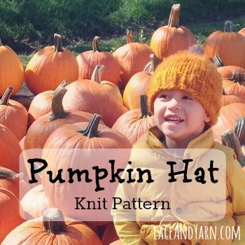 Pumpkin Hat Knit Pattern -- laceandyarn.com